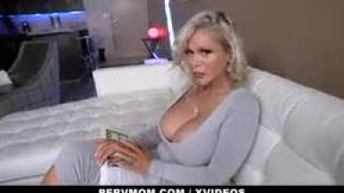 Lucky Stepson Fucks His Busty Mom While Dad is Away